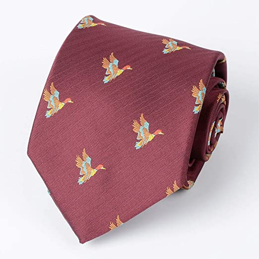 GuanBen Corbata, Corbata de Seda Patrón Animal de Caza 8 cm para ...