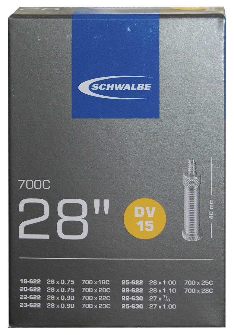 Schwalbe DV 15 Fahrrad Schlauch 27//28″ //// 27//28x3//4-1 1//8″ 18//28-622//630 DV40mm