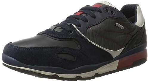 Geox U Sandford B ABX A, Zapatillas para Hombre, Gris (Stone/Dk Grey), 43 EU