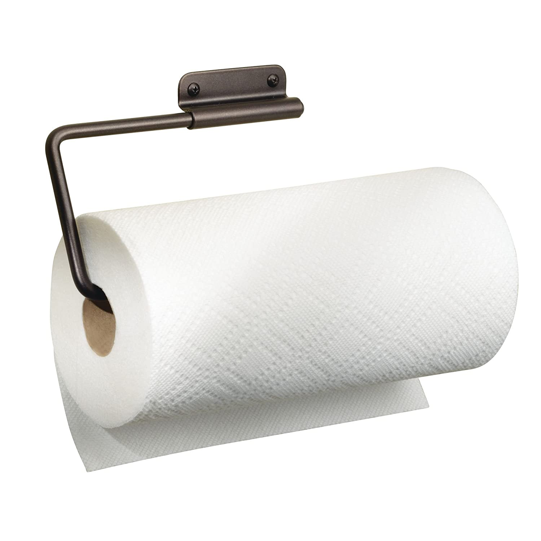 Amazon.com: InterDesign Forma Wall Mounted Metal Paper Towel Holder  Swiveling Roll Organizer For Kitchen, Bathroom, Craft Room, Bronze: Home U0026  Kitchen