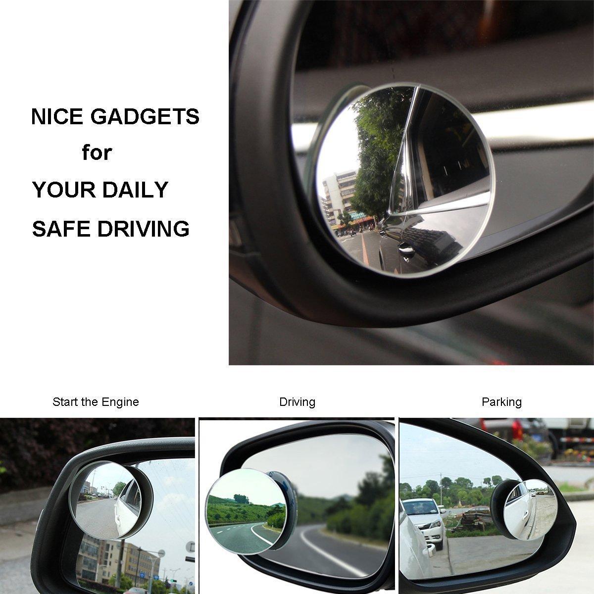 rotation de 360//° SUV et motos fixation adh/ésive universelle Lyauta Lot de 2 miroirs /à angle mort 30//° r/étroviseur en verre convexe grand-angle/; convient aux voitures