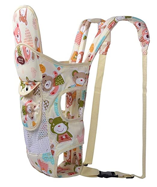 Tiancaiyiding Mochila Portabebés de Algodón Traspirable para Recién Nacido Portador de Bebé Multifuncional Resistente Baby Carrier Ergonómica Ajustable ...