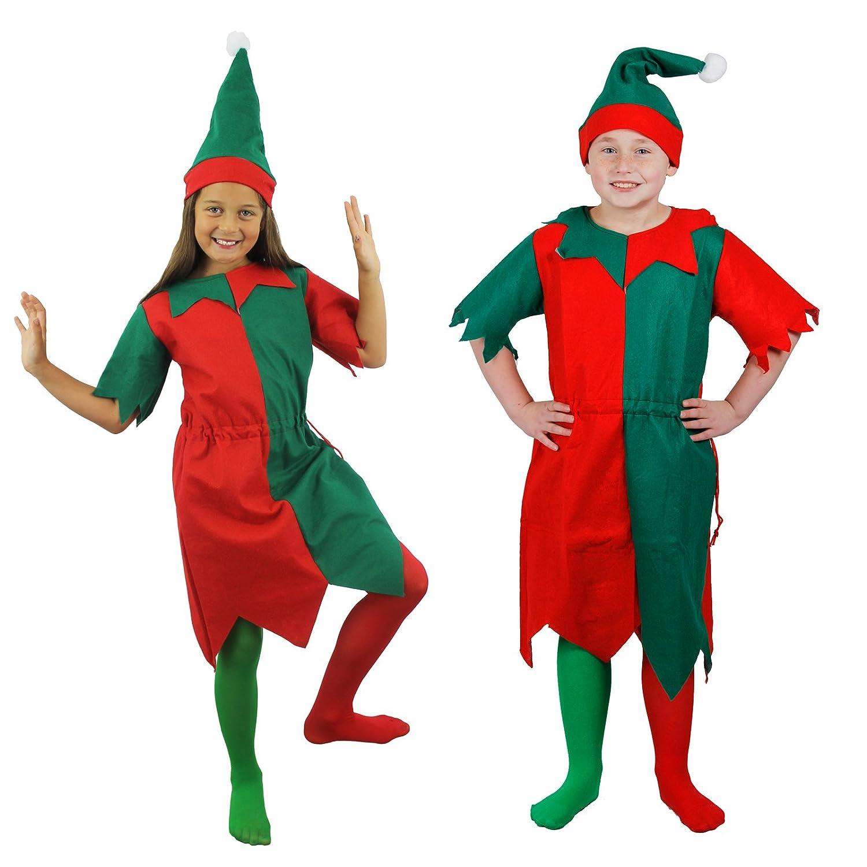 elf tights childs christmas fancy dress kids unisex xmas accessory