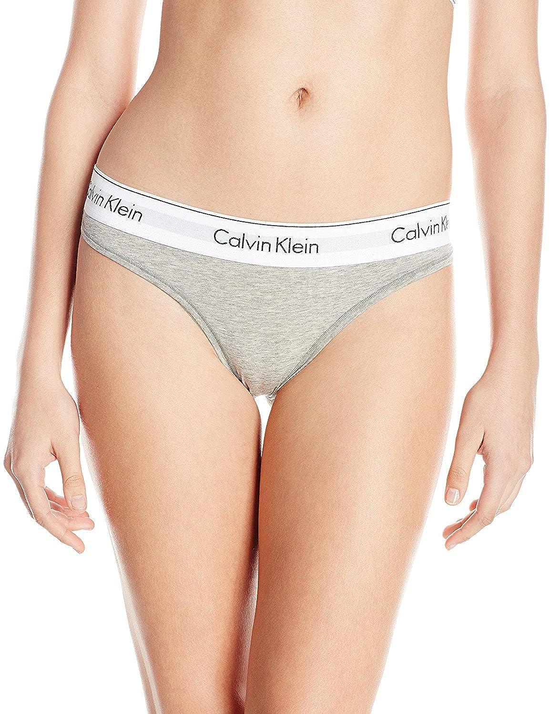 Calvin Klein Women's Modern Cotton Thong Panty F3786G