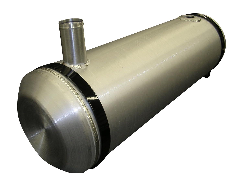 Round Spun Aluminum Gas Tank 10x33 End Fill w//Site Gauge 3//8 NPT 11 gal