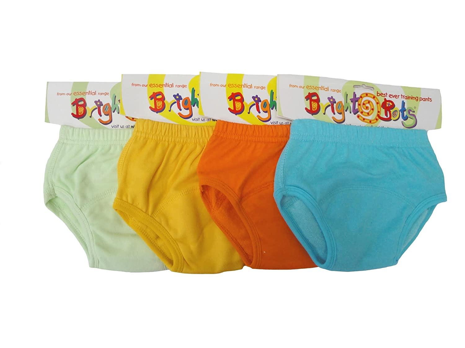 Bright Bots Washable Potty Training Pants with PUL Lining 4pk Extra Large - Unisex (approx 36m) 2AAETRA-4XLU