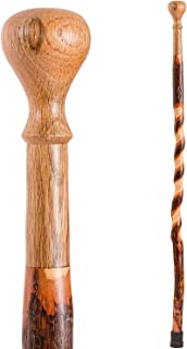 product image for Brazos Walking Cane for Men and Women Handcrafted of Lightweight Wood and made in the USA, Hickory, 37 Inches