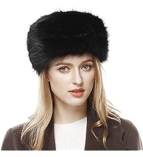 Futrzane Women s Russian Cossack Faux Fur Hat for Winter at Amazon ... a8870aa46b0f