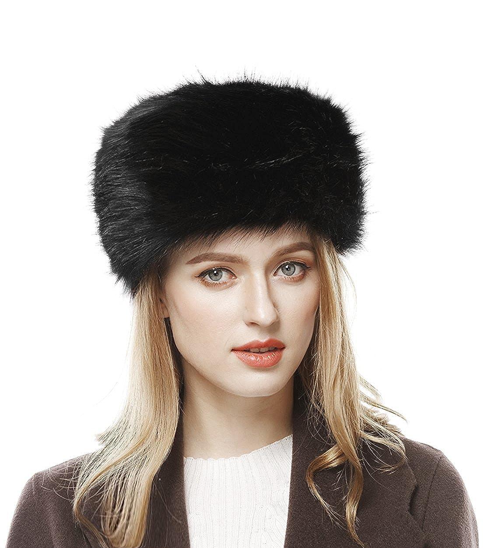 b18813289bd Lovful Winter Women Faux Fur Russian Cossack Style Hat Winter Wrap ...