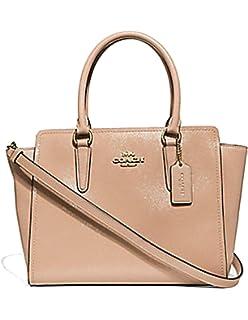 Coach Leah Patent Leather Crossgrain Satchel Crossbody Handbag Purse 5ac08260f711f