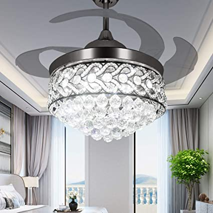 Rs Lighting Unique Ceiling Fan Crystal Design 42 Fan Light With