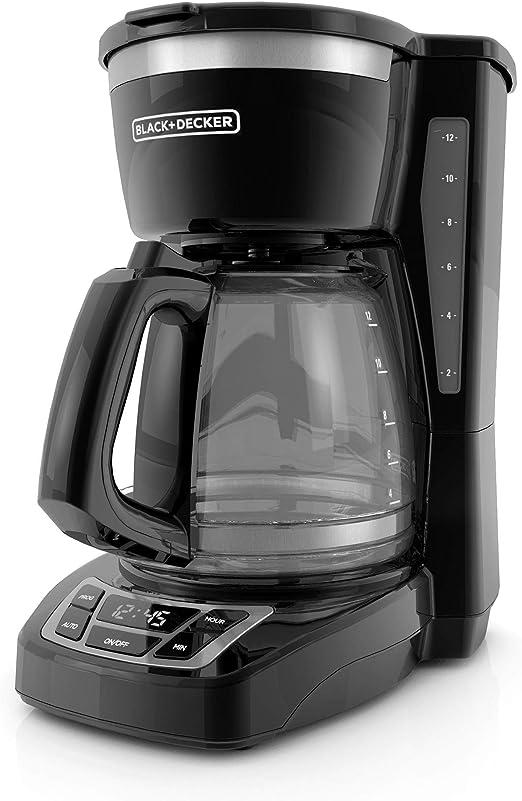 BLACK+DECKER DLX1050B cafetera programable de 12 tazas 2,8 kg ...