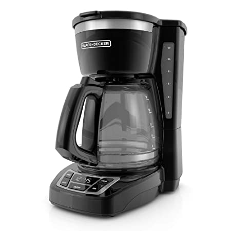 Black/Stainless Steel : BLACK+DECKER CM1160B 12 Cup Programmable Coffee Maker, Digital Control Programmable Coffee Maker, Black/Stainless Steel Cups, Mugs & Saucers at amazon