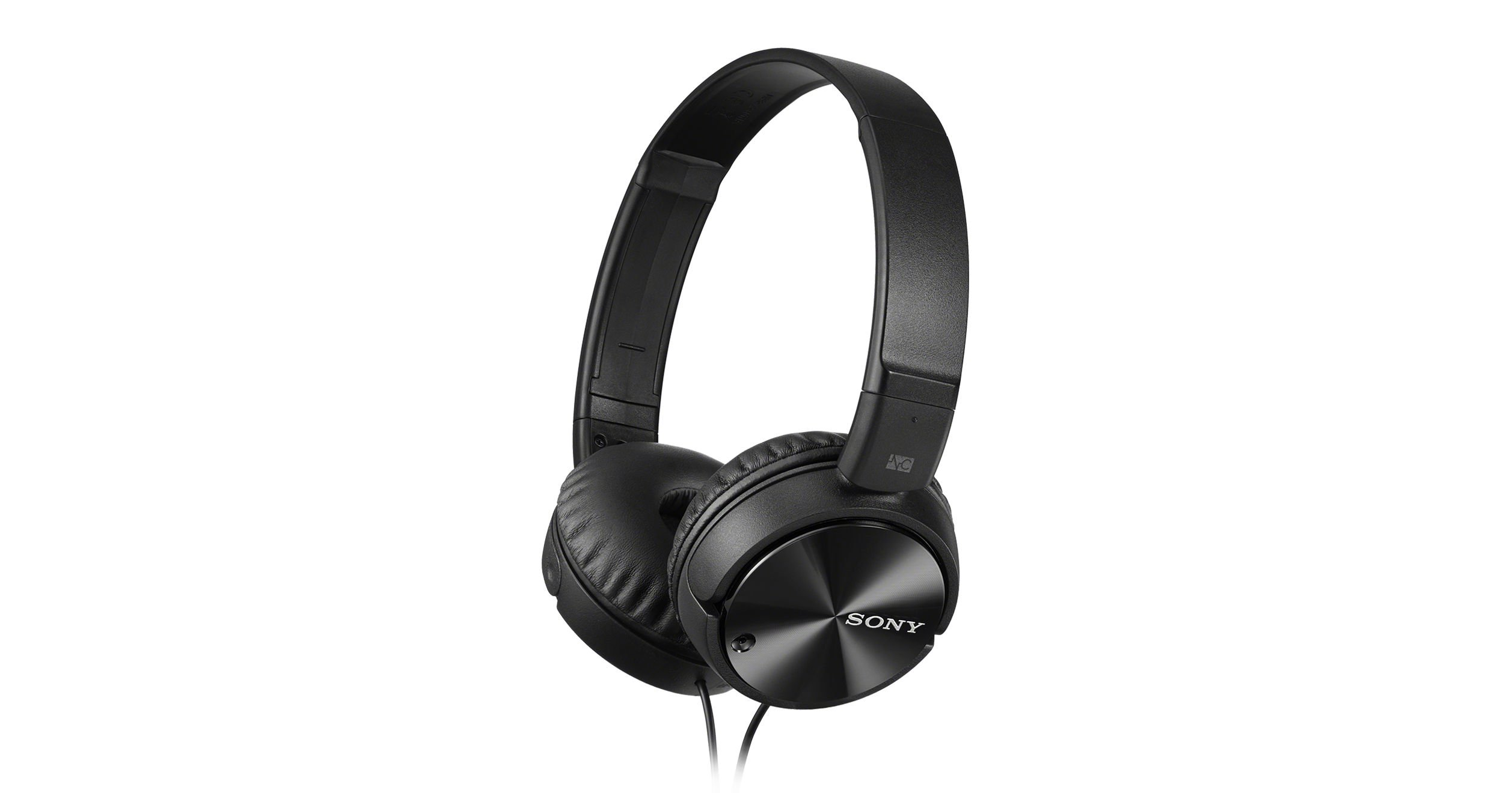 Sony High Clarity Lightweight On Ear Headphones w/Noise Canceling (Certified Refurbished) (MD-X110, Black)