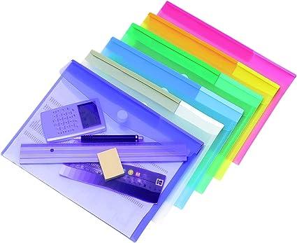 Tarifold Es 510209 – Carpeta Portafolios Sobre A4 Plástico, colores Surtidos - 12 unidades: Amazon.es: Oficina y papelería