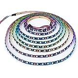 BTF-LIGHTING WS2811 5m 60LEDs/m flexible adressable bande couleur IP65 Silicone enduit imperméable DC12V PCB noir
