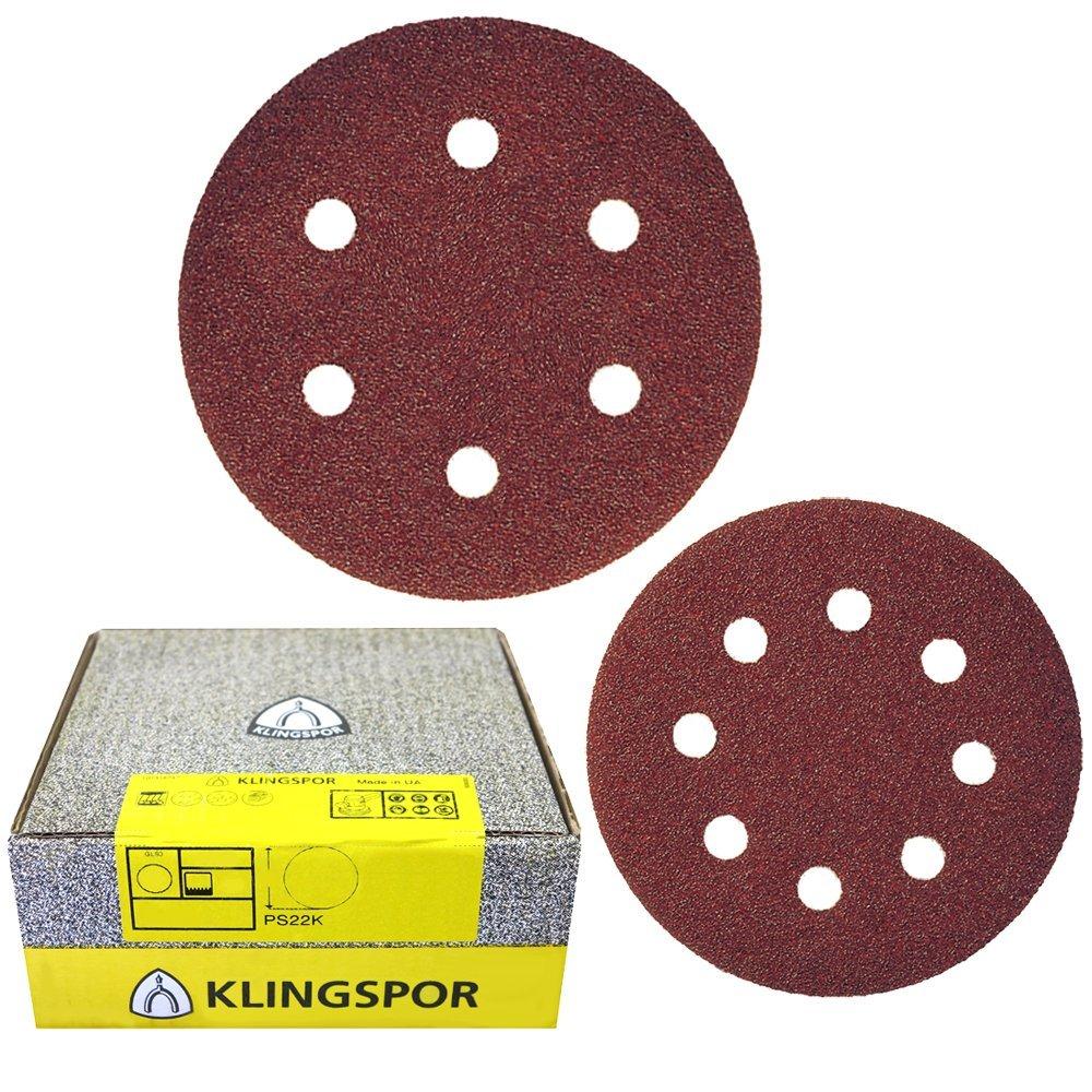 Klingspor Sanding Disc 150 mm Pack of 50 Grit 40 PS 22 K Velours-Backed 89181
