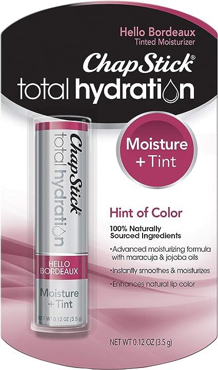 ChapStick Hidratación total tintada hidratante, 100% natural ...