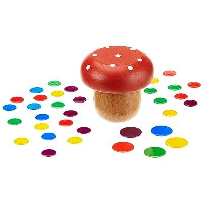 HCM? 107020 Tiddlywinks Wooden Mushroom: Toys & Games