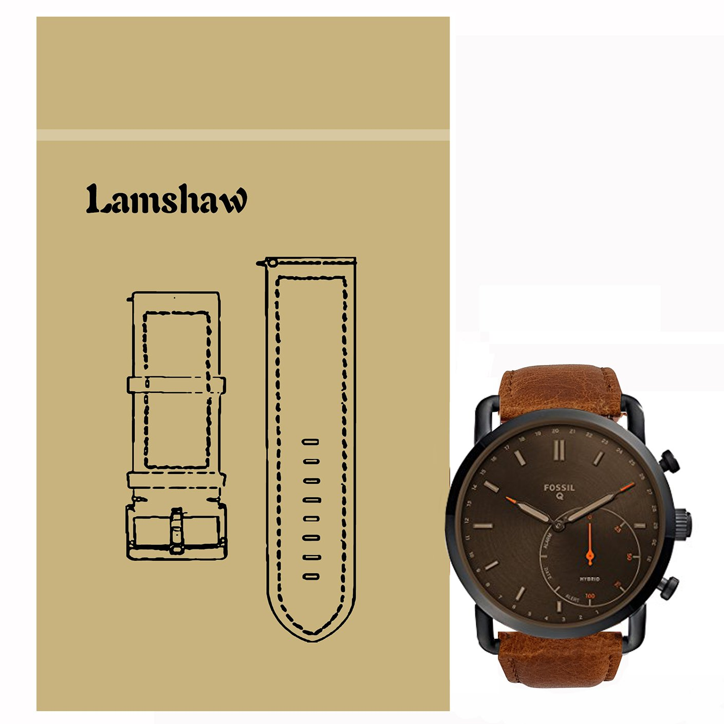 Amazon.com: Lamshaw Crazy Horse Leather Strap Replacement ...