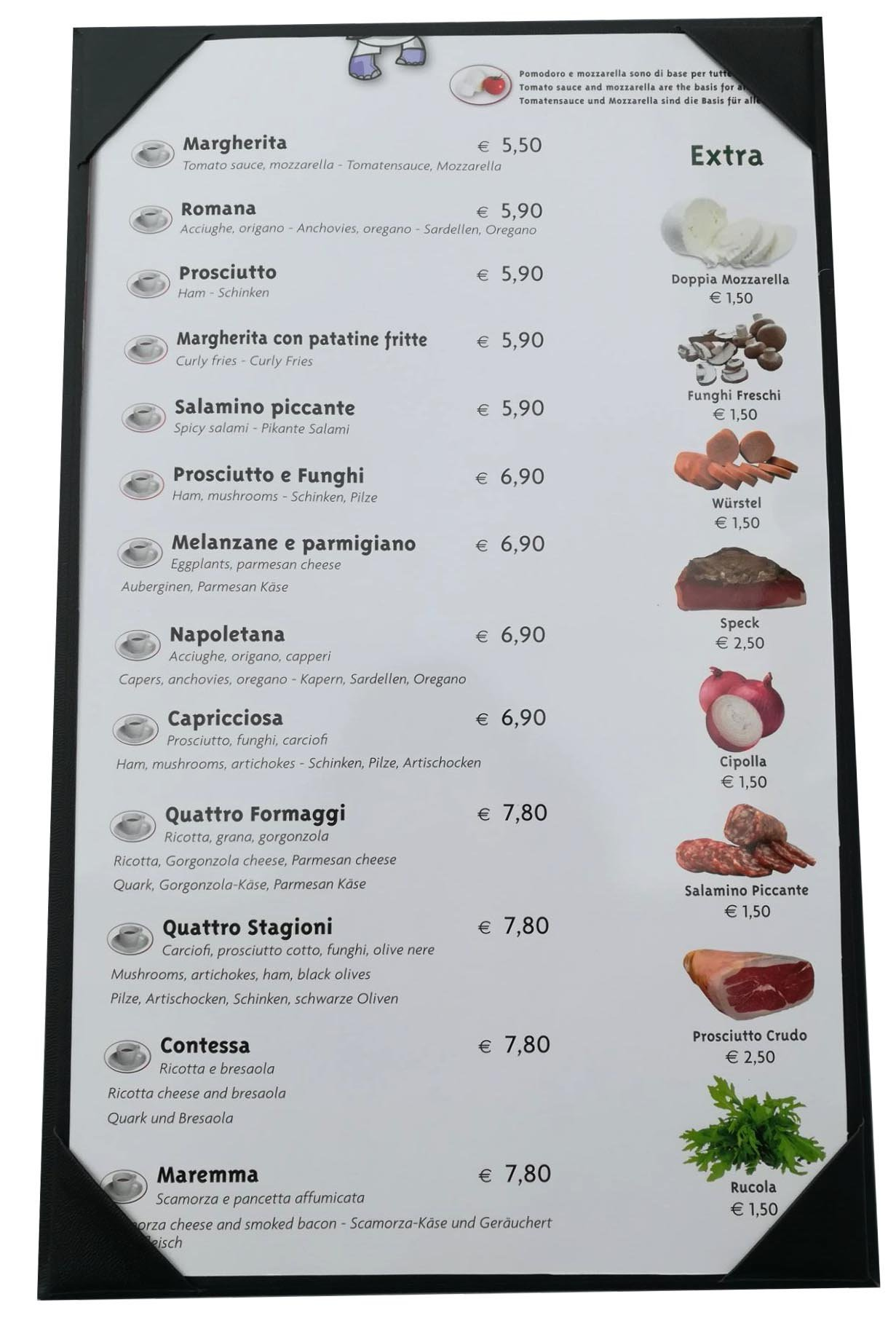 10 Pcs of Restaurant Menu Covers Holders 8.5'' X 14'' Inches,Single View,Sold By Box,With Clear PVC sheets for Paper Protection