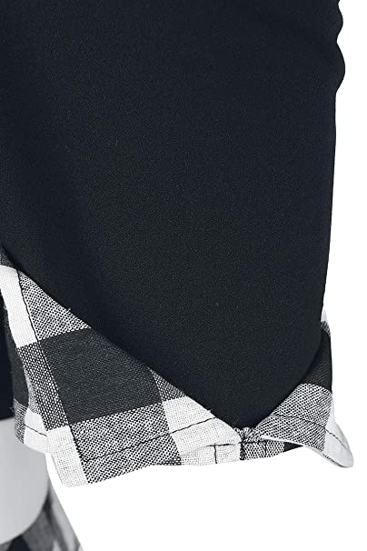 e34e44d78196 Belsira Off-The-Shoulder Swing Dress Medium-Length Dress Black-White   Amazon.co.uk  Clothing