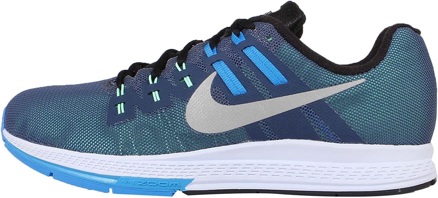 Nike Air Zoom Structure 19 Flash, Zapatillas de Running para Hombre, Azul/Plata/Blanco/Negro (Sqdrn Blue/Rflct Slvr-Bl LGN), 48 1/2 EU: Amazon.es: Zapatos y complementos
