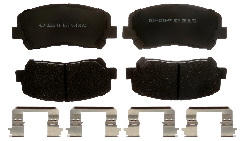 ACDelco 14D1623CHF1 Advantage Disc Brake Pad Set