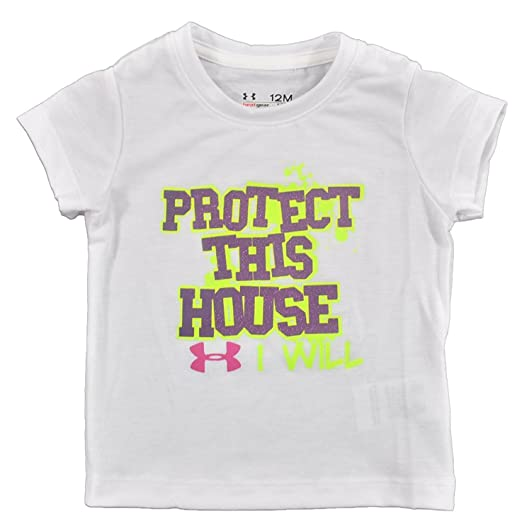 a502dc71bf80 Under Armour Little Girls  Infant UA PTH T-Shirt Infant 12 Months White