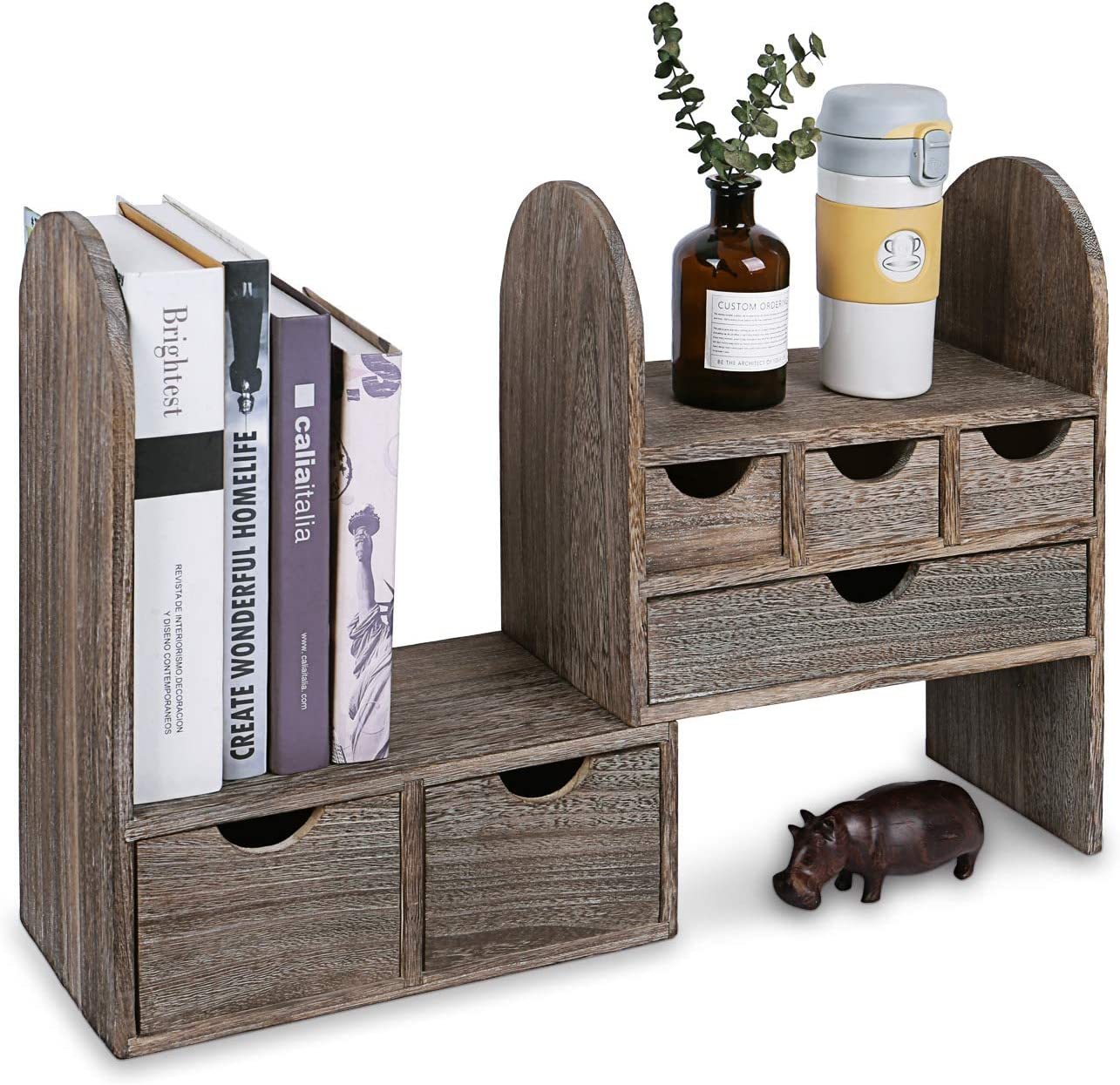 Ikee Design Large Extendable Wooden Desktop Organizer