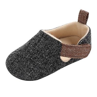 9ecfb3bebc93b Minuya Chaussures Bébé Garçon, Semelle Souple Chaussures Premiers Pas Bebe  Garçon Nourrisson Efant