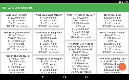 Amazon.com: Auto Loan Calculator: Appstore for Android