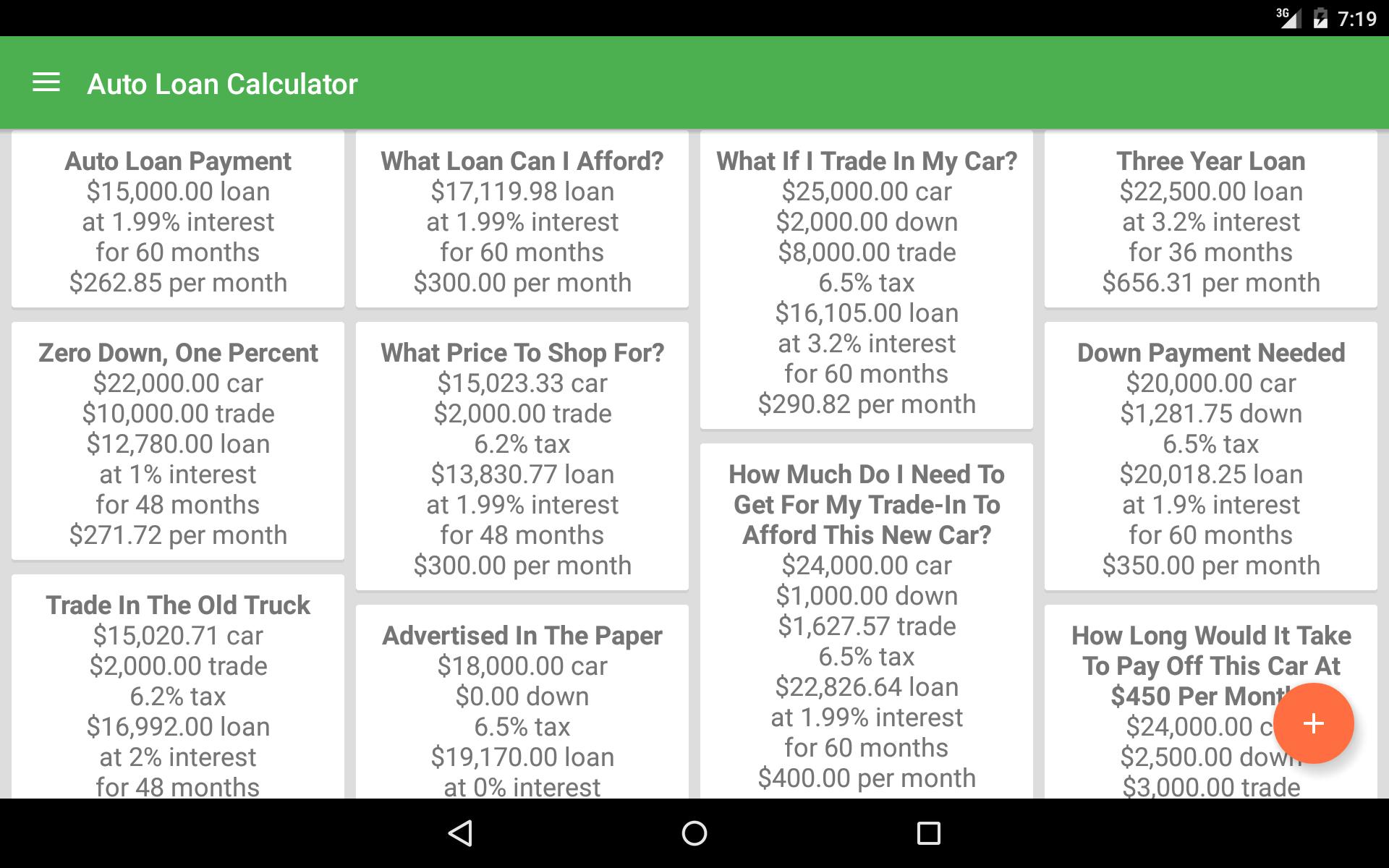 Amazon Com Auto Loan Calculator Appstore For Android