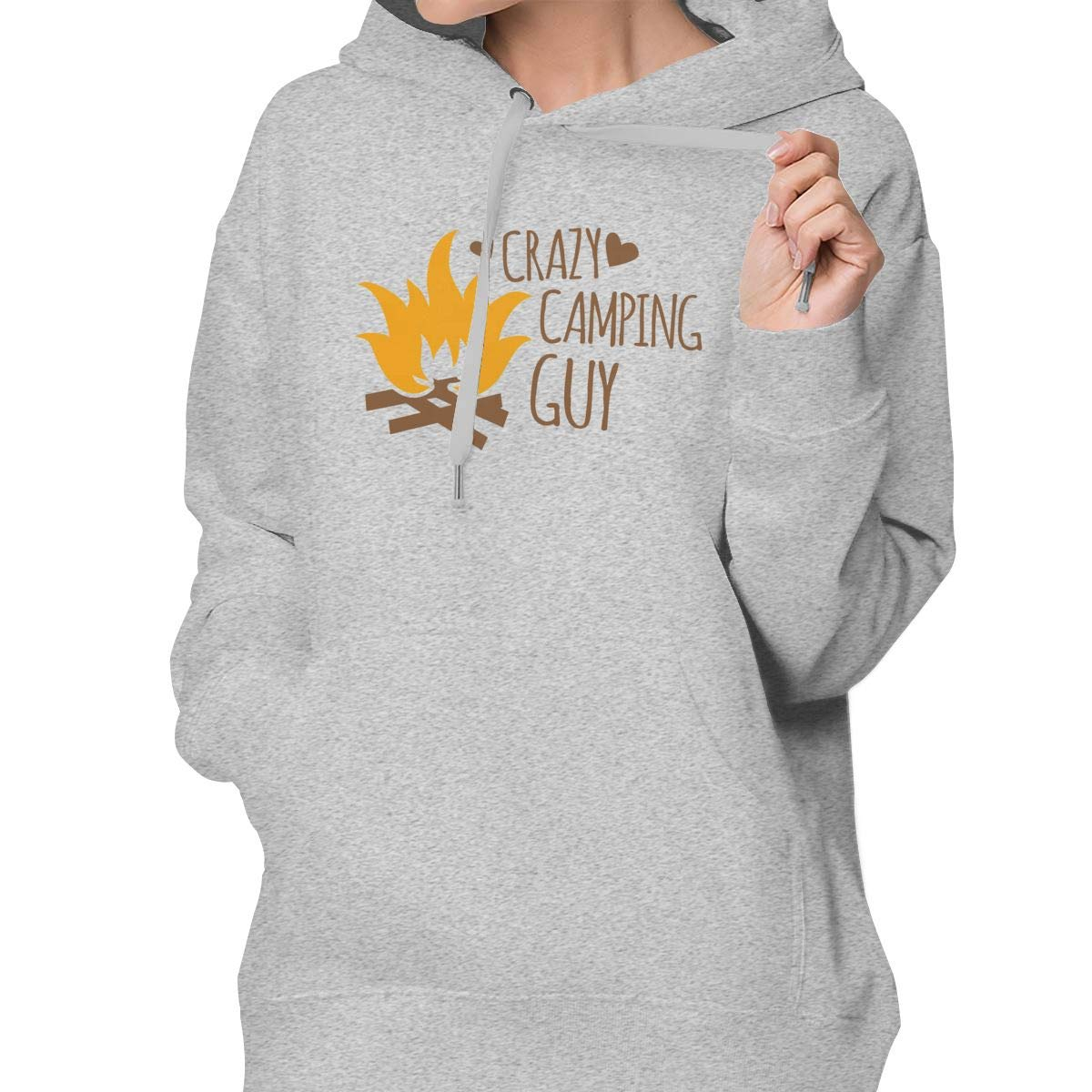 Sakanpo Crazy Camping Guy Womens Hoodie Sweatshirt with Pocket