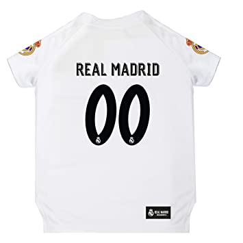 Amazon.com: Camiseta de fútbol Real Madrid para mascotas con ...