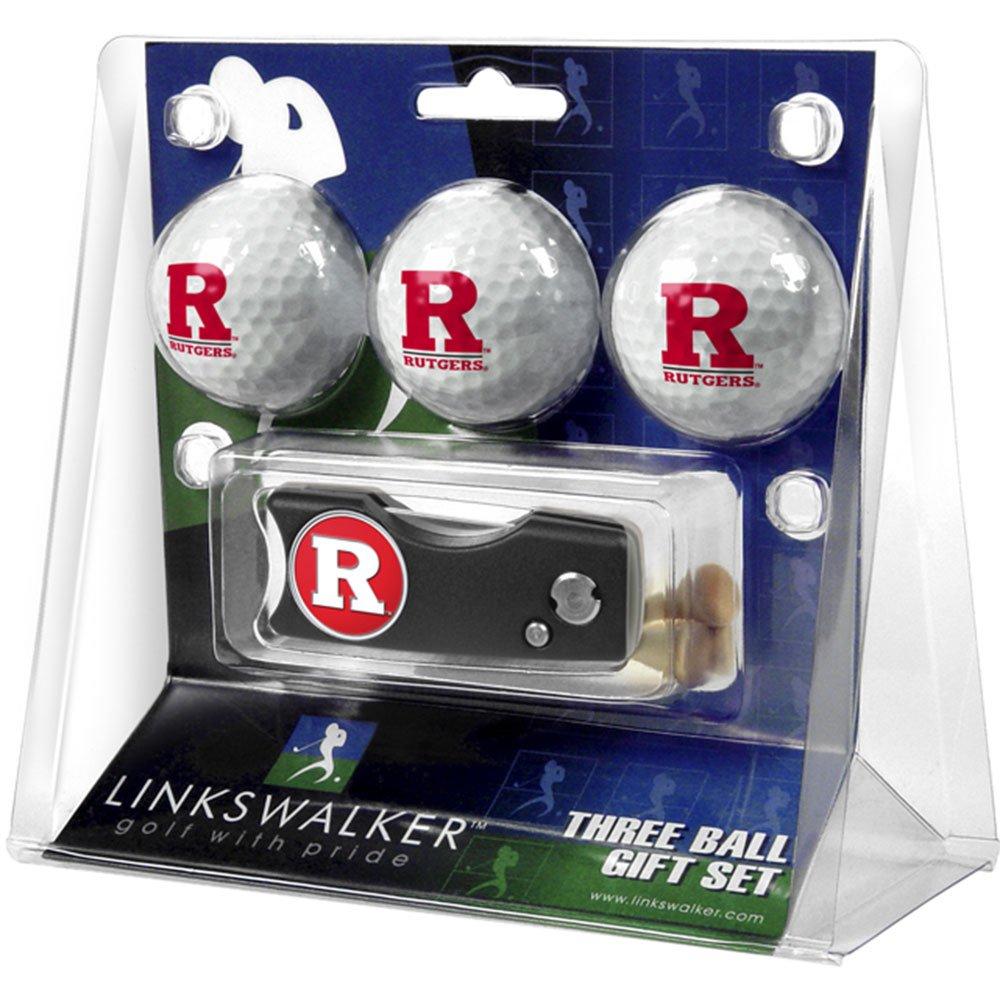 Rutgers Scarlet Knights NCAAスプリングアクション3ゴルフボールギフトパック   B001L7VVDQ