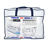 Homescapes Single 10.5 Tog New White Duck Feather & Down Duvet - 100% Cotton Anti Dust Mite & Down Proof Cover - Anti allergen - Washable at Home Luxury Quilt