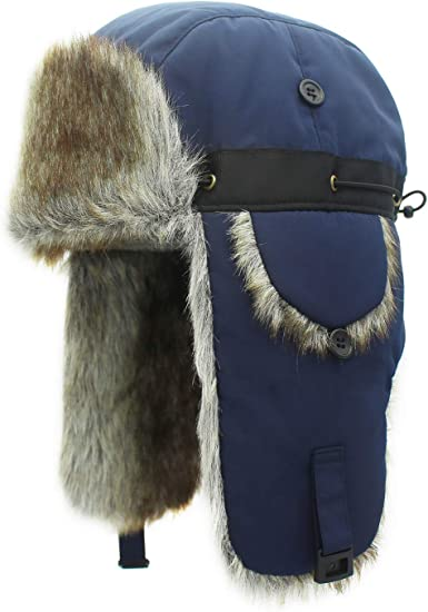 Fully Lined Hat Unisex Russian Style Fashion Check Trapper Hats One Size Fur