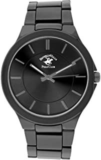 Beverly Hills Polo Club Gunmetal metal link watch with black dial (Model: 53310)