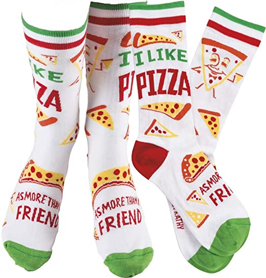 Fun pizza socks
