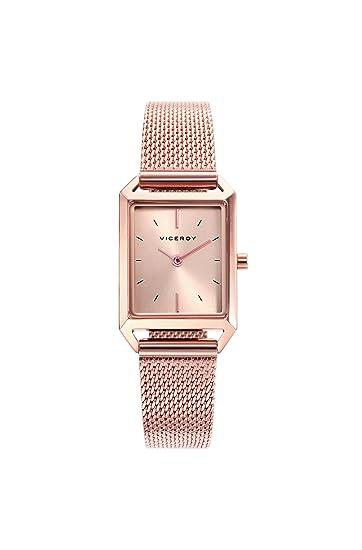 a7dcf337de22 Viceroy Reloj Analogico para Mujer de Cuarzo con Correa en Acero Inoxidable  471130-97  Amazon.es  Relojes