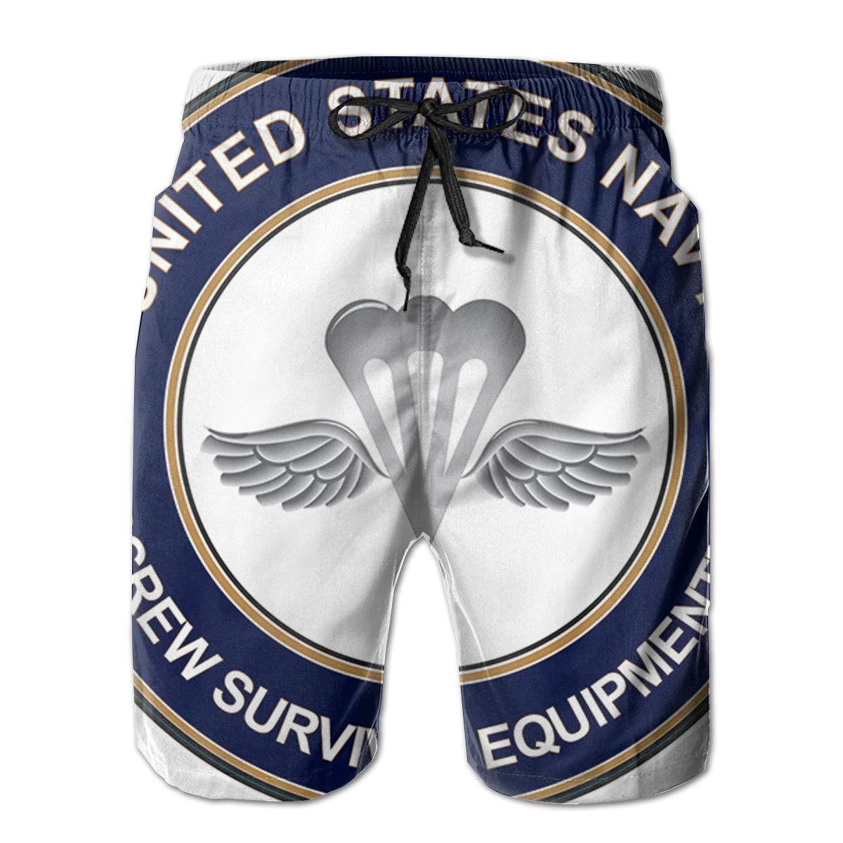 Reality And Ideals US Navy Aircrew Survival Equipmentman AZ Mens Swim Trunks Board Shorts
