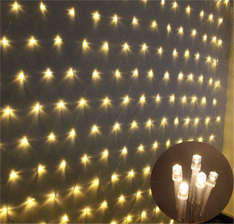 BABIFIS Luces de Red Linterna LED Luces Intermitentes Luces de Red Luces de Navidad Luces de Cortina Decorativas Impermeables Luces de Fondo de Malla