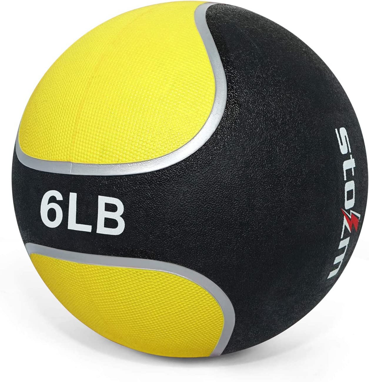 STOZM Medicine Ball/Weighted Ball – Exercise Weights with Rubber Textured Grip for Fitness, Conditioning and Crossfit Workout (6lbs, Yellow) : Sports & Outdoors