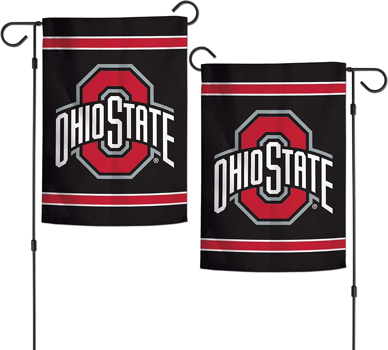"WinCraft NCAA Ohio State University Buckeyes 12.5"" x 18"" Inch 2-Sided Garden Flag Logo"