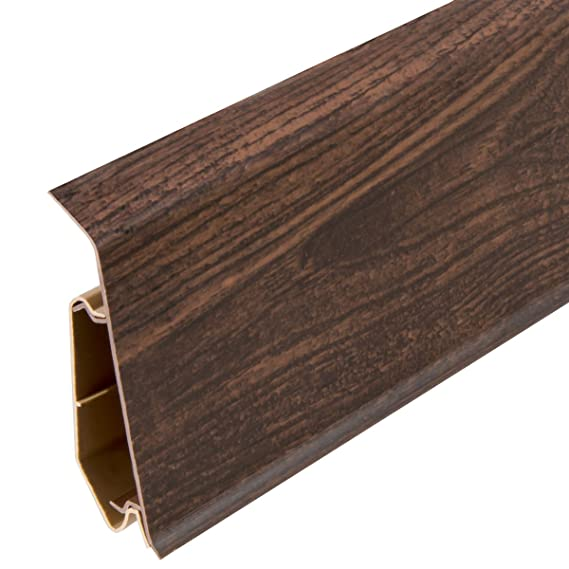 HOLZBRINK Verbinder passend zum Dekor Ihrer Sockelleiste Fussleiste VEO 023E WENGE