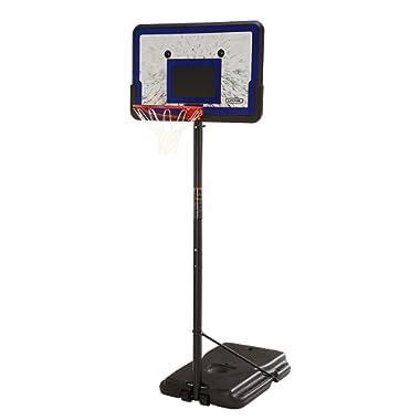 Lifetime 1221 Pro Court Height Adjustable Portable Basketball System, 44 Inch Backboard