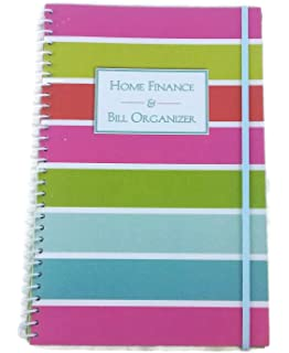 home finance bill organizer with pockets pastel stripes by gencorp