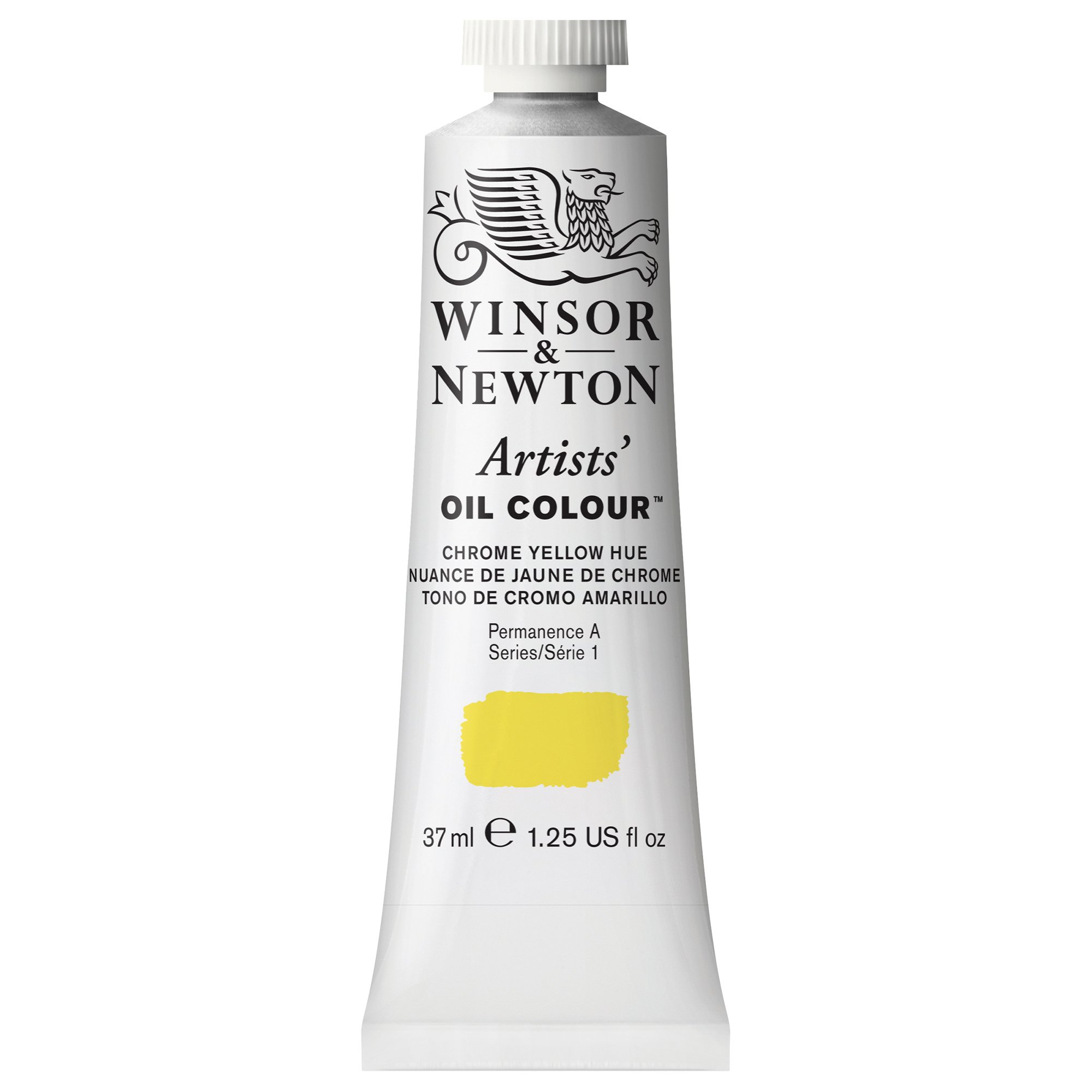 Winsor & Newton Artists' Oil Color Paint, 37-ml Tube, Chrome Yellow Hue