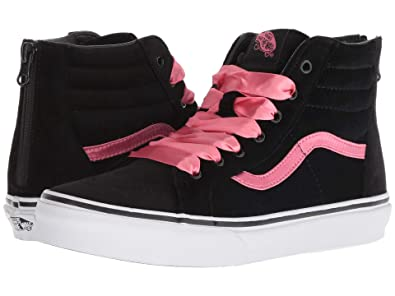 efca26d36a24 Image Unavailable. Image not available for. Color  Vans VN-0A3276UJX  Girls  SK8-HI Zip Satin Velvet Black Pink Lemonade